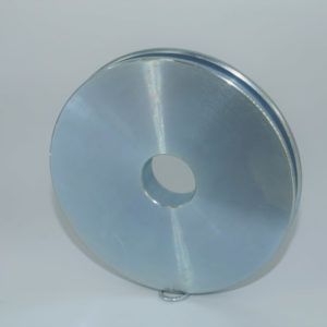 4″ Sheave, Industrial Quality,  17/32″ Wide Machined Sheave with 7/8″ bore, grooved for 3/16″ & 1/4″ wire rope.