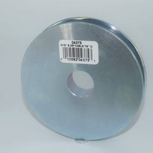 4″ Sheave, Industrial Quality,  21/32″ Wide Machined Sheave with 7/8″ Bore
