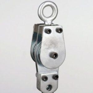 1-1/2″ Deadman Swivel Eye Pulley Block 2 Sheaves 3/16 Rope