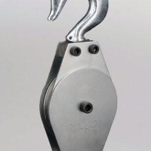 """1-1/2″ Swivel Hook Deadman Pulley Block 1 Sheave 3/16"""" Rope"""